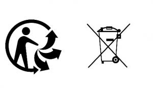 Triman Logo und durchgestrichene Tonne