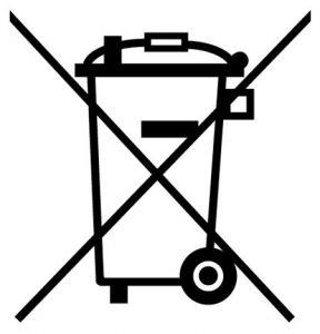 Symbol zur Kennzeichnung von Elektro- und Elektronikgeräten