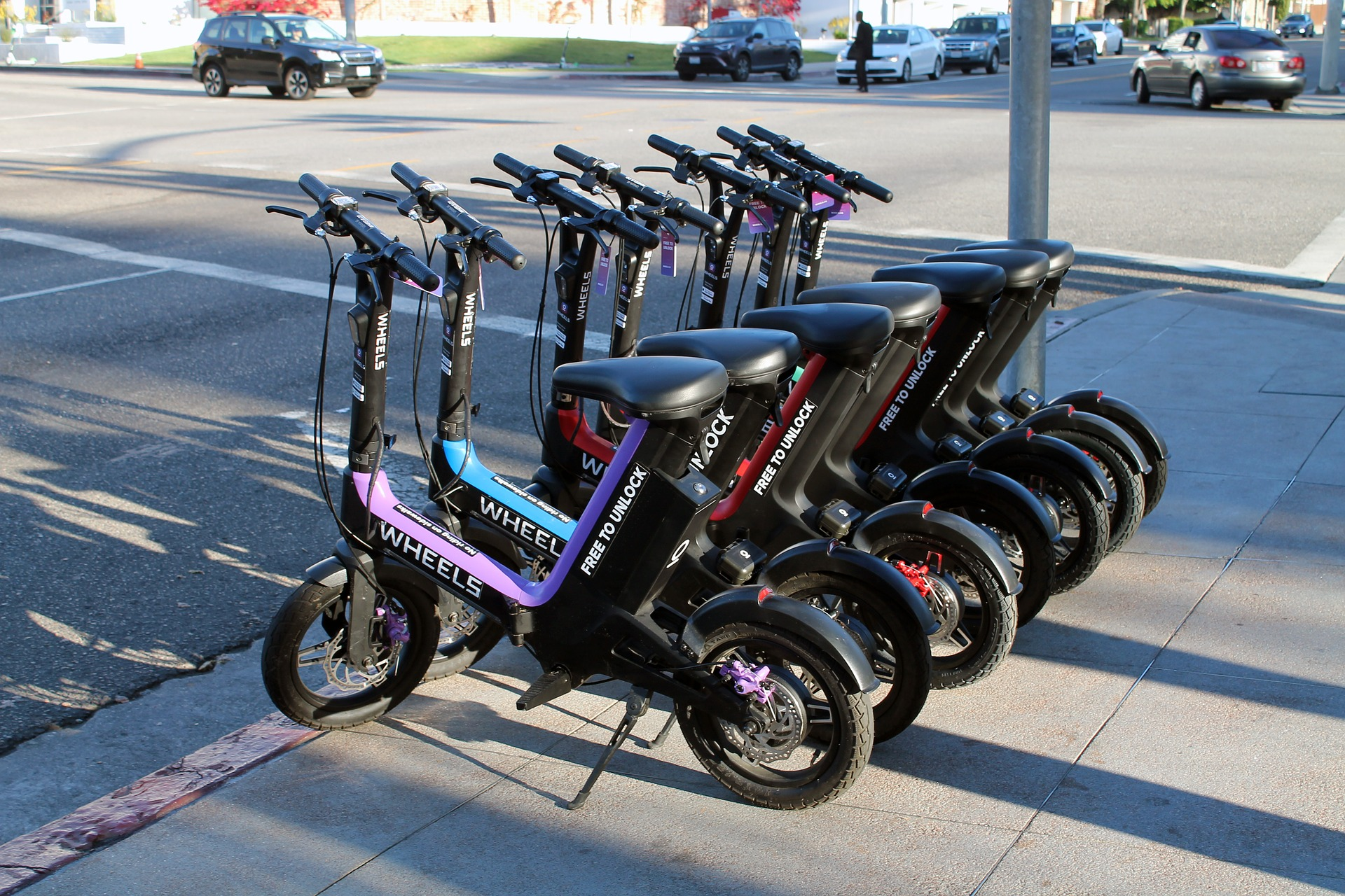 E-scooters with a seat