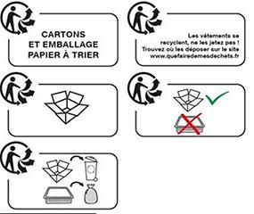Triman Logo in Frankreich Gleichheit