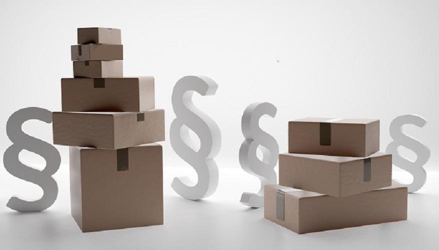 postal parcel logistics shipping parcels 3d-illustration brown packages